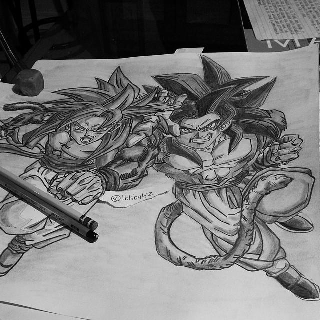 how to draw goku side view