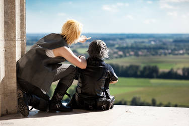 Final Fantasy Versus XIII - Prompto and Noctis by Berry-Cosplay