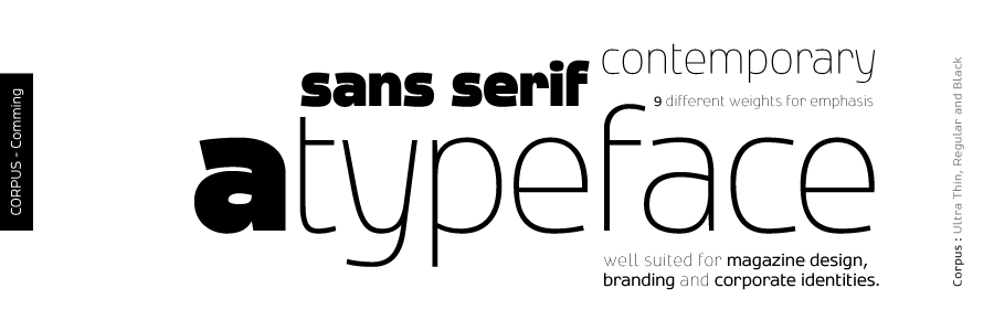 Corpus - A new sans serif type by akkasone