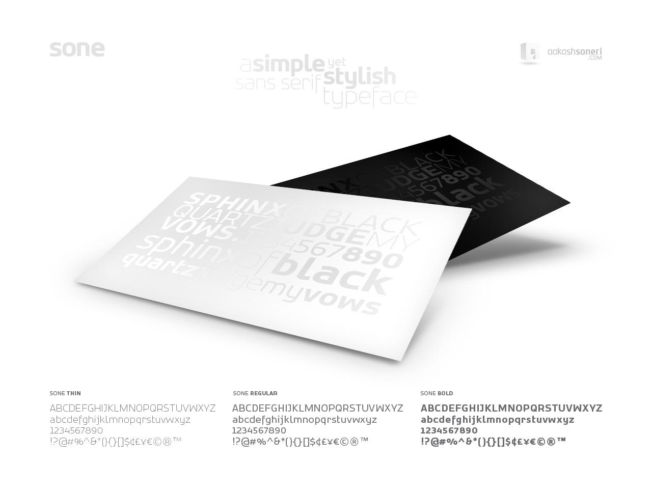 SONE Typeface Family by akkasone