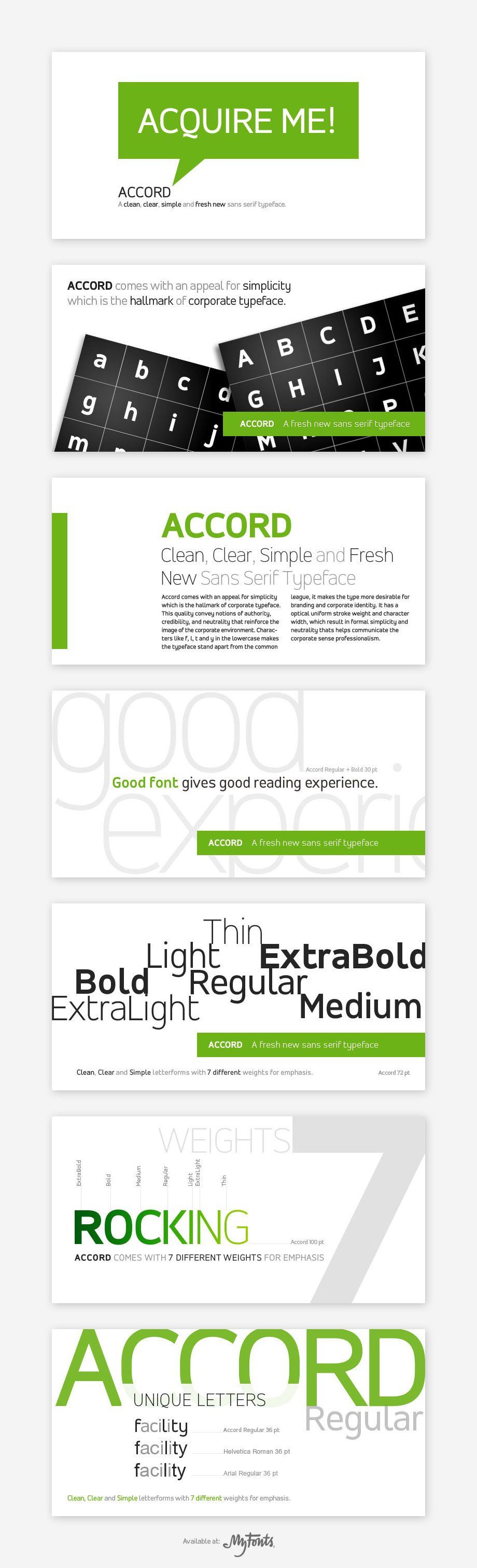 Accord Font Family at MyFonts by akkasone