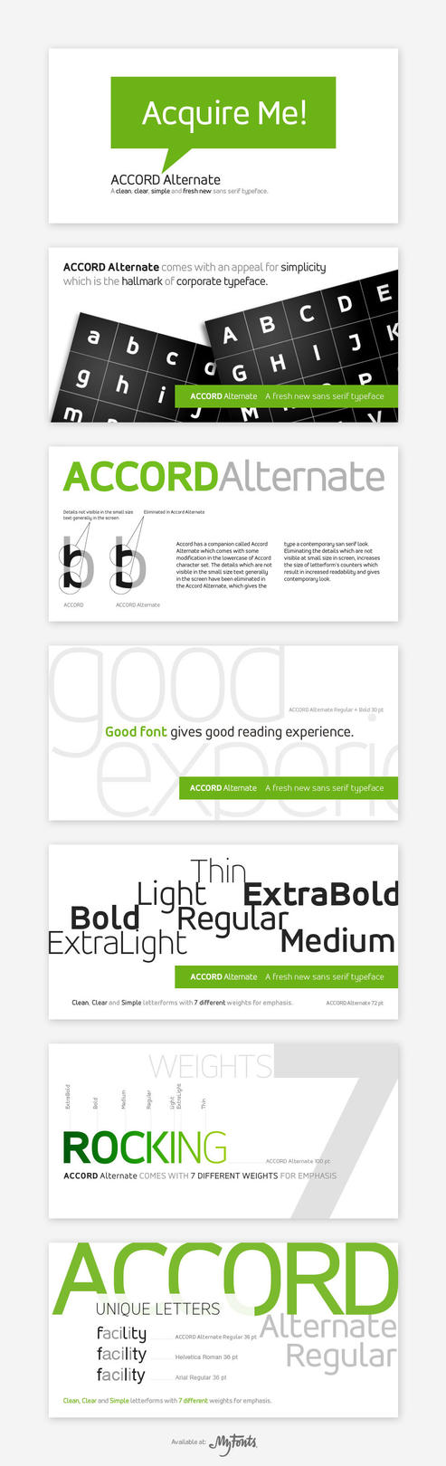 Accord Alternate Font Family by akkasone