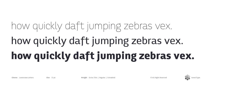 Chorus Typeface Smallcase by akkasone
