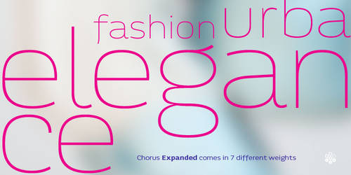 Chorus Expanded Typeface Teaser Preview