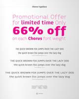 Chorus Typeface Promotional Offer by akkasone