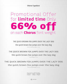 Chorus Typeface Promotional Offer