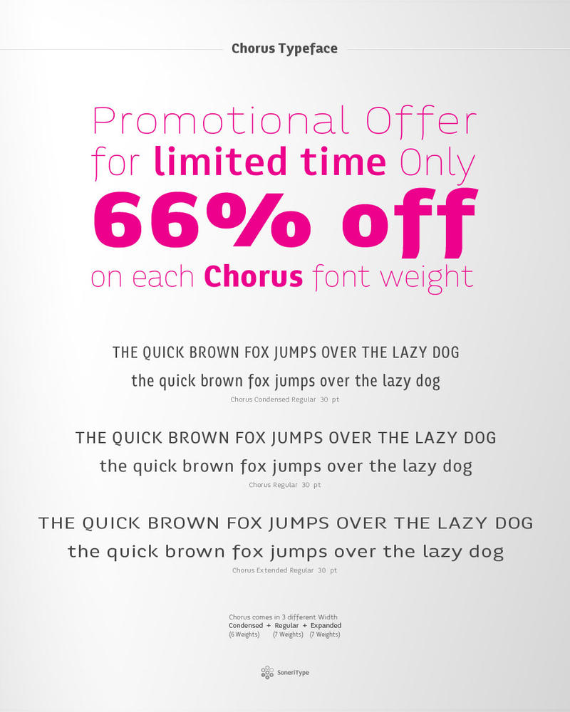 Chorus Typeface Promotional Offer by akkasone