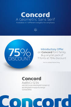 Concord Typeface Introductory Offer