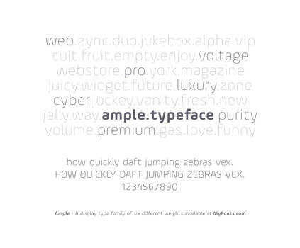 Ample - A display typeface