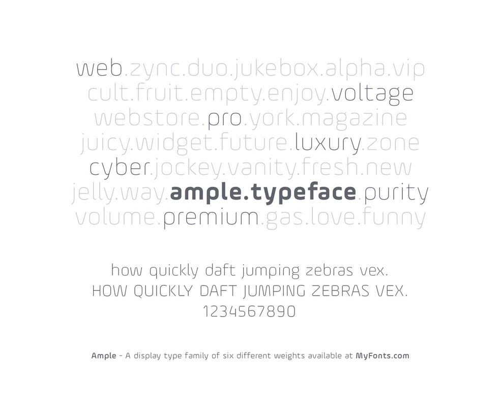 Ample - A display typeface by akkasone