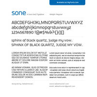 SONE Regular Typeface by akkasone