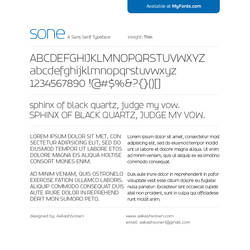 SONE Thin Typeface