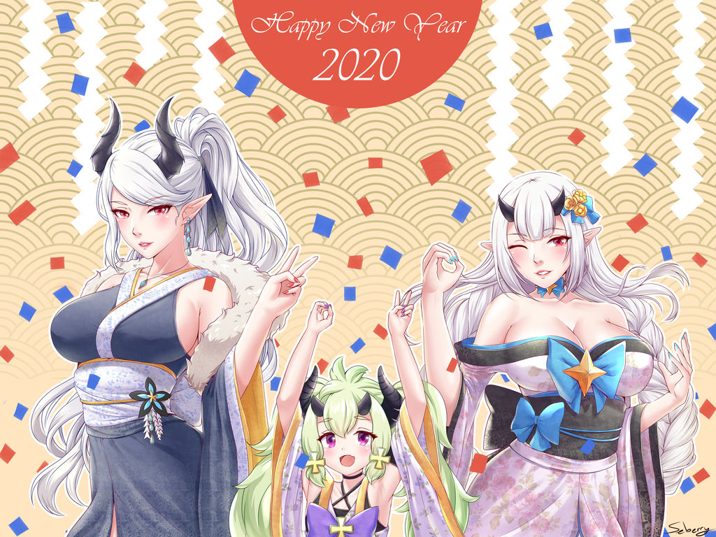 Spend Your New Year with the Dragon Family~ by seberry