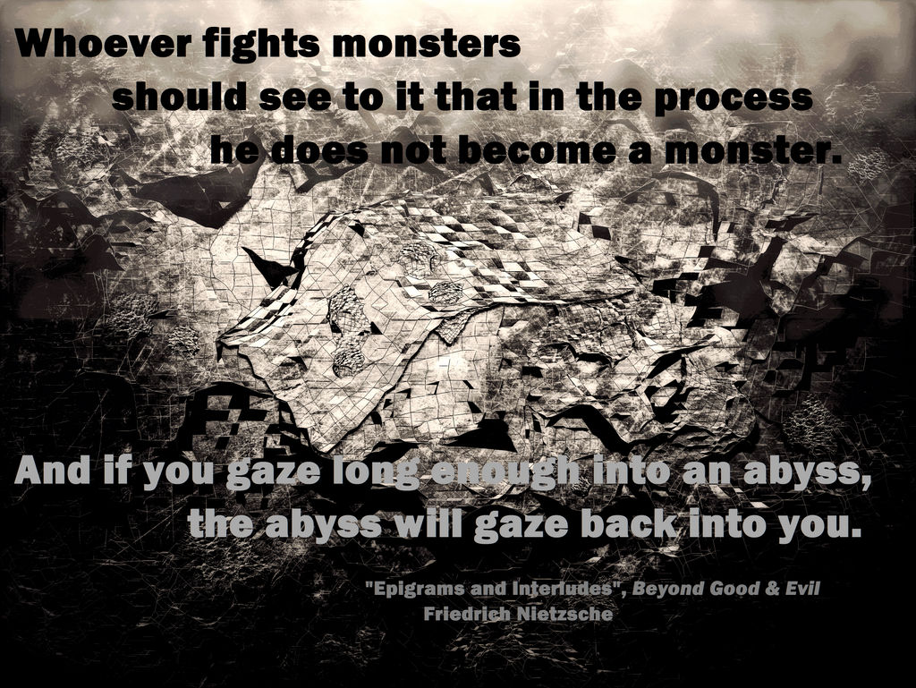 Gazing Into The Abyss Quote By Lucuspalosaari On Deviantart