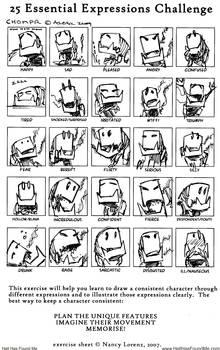 25 Expression Challenge CHOMPR