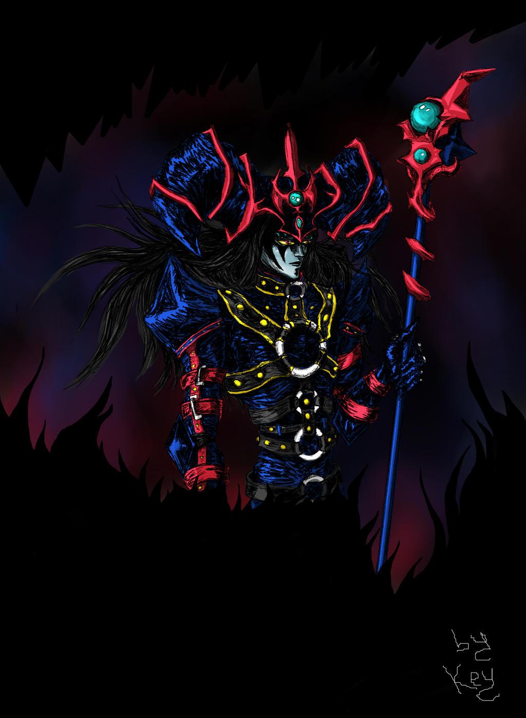 Dark Magician of Black Chaos colorfull by Nakatama-aka-Key ...  Dark Magician o...