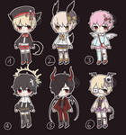 Open Adoptable Batch 08 ($4/400pts sale)