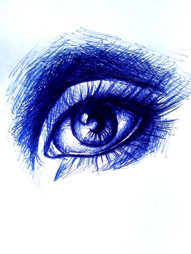 Ballpoint eye by Celedea