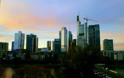 Frankfurt Skyline by Thelastsushi