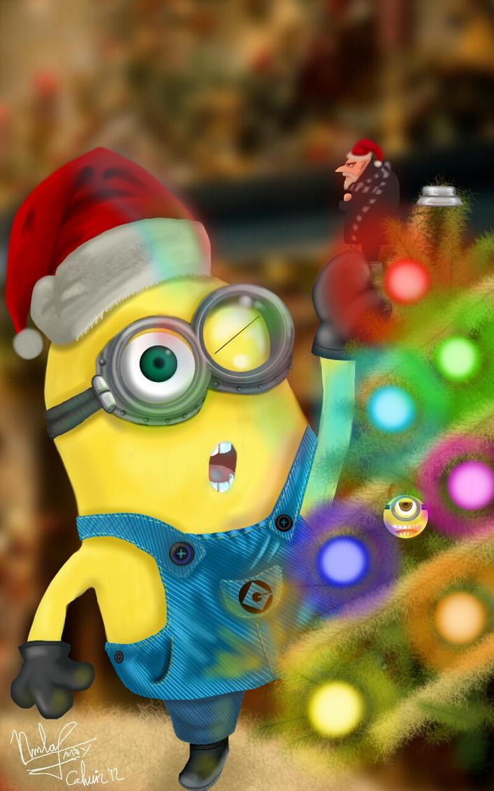 Minion On Christmas By Arcsh