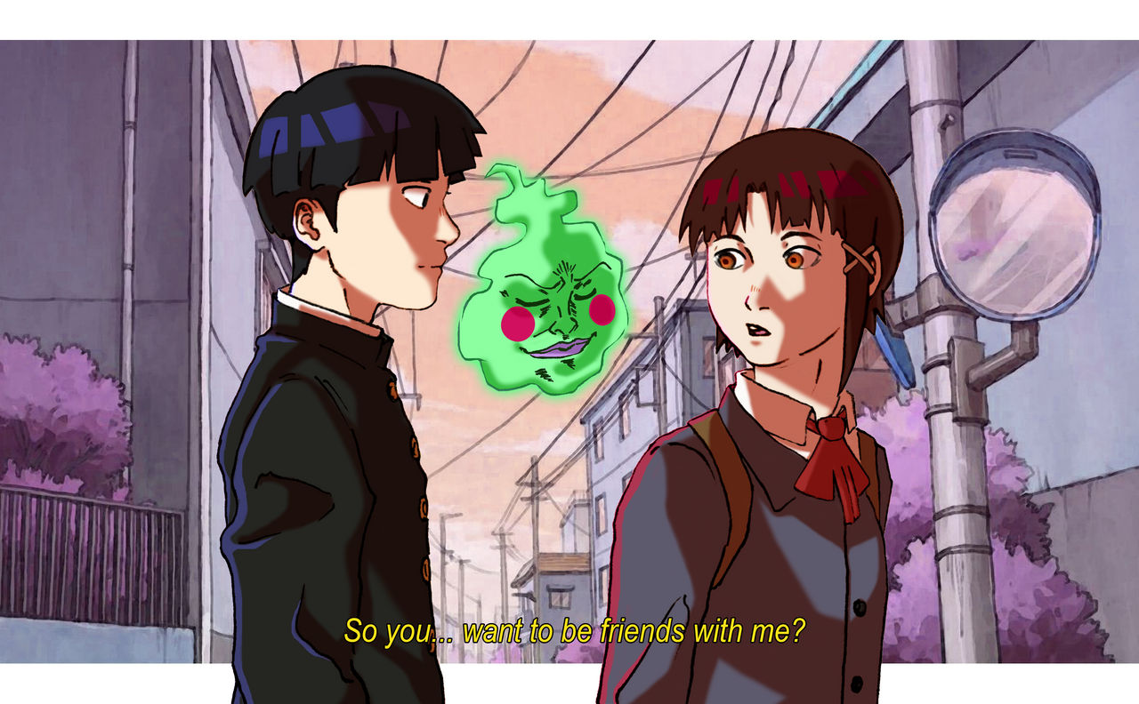 Mob and Lain (MP100 and Serial Experiments Lain) by jojorobot on ...