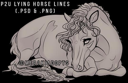Sweet Lying Horse Lines [P2U] by MerakiAdopts