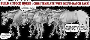 Cute Western Stock Horse Base