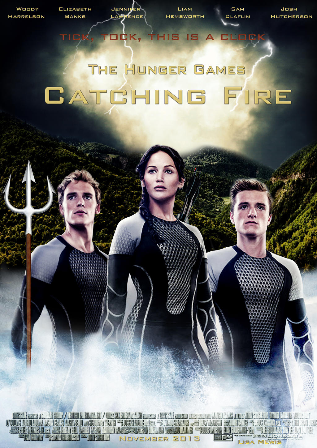 Catching Fire Movie poster (Self-made) by FoxColorsWorld ...