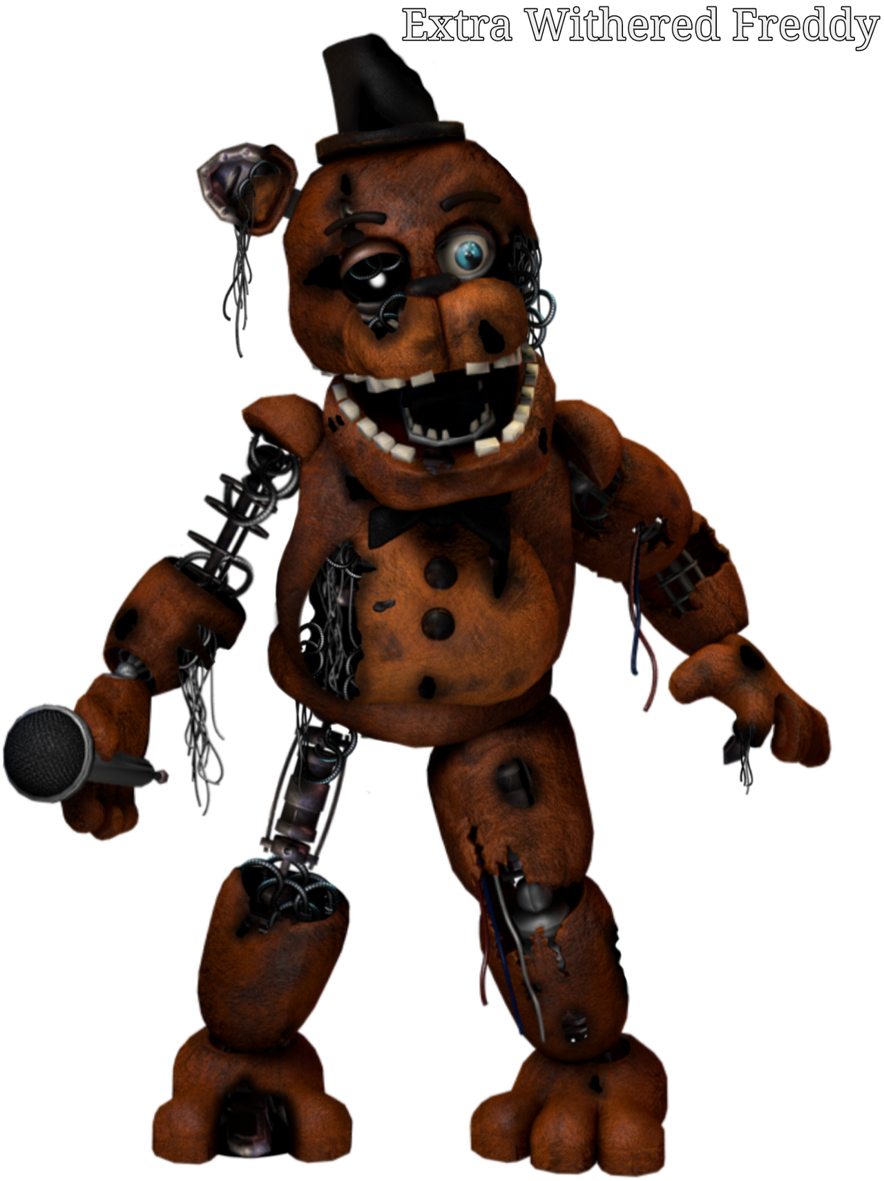 Extra Withered Freddy By Nightmarefred2058 On Deviantart Withered freddy is brought to the present day to take on the toy mode in one night at freddy's withered freddy statue tutorial! extra withered freddy by