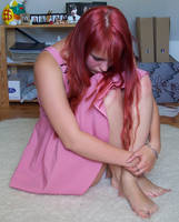 Rixu-stock. Pink Dress. Alone. by Rixu-stock