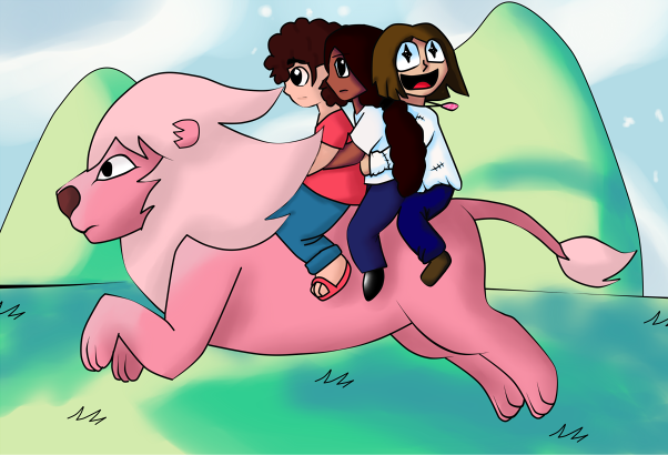 Lion ride by Sanploo