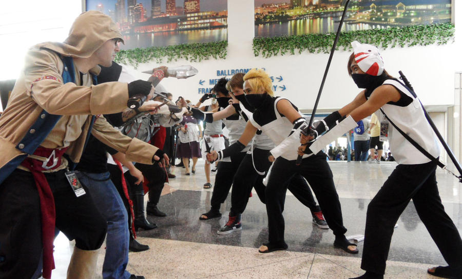 Metrocon 2012: Assassin's Creed - Epic Battle by Cynuyasha