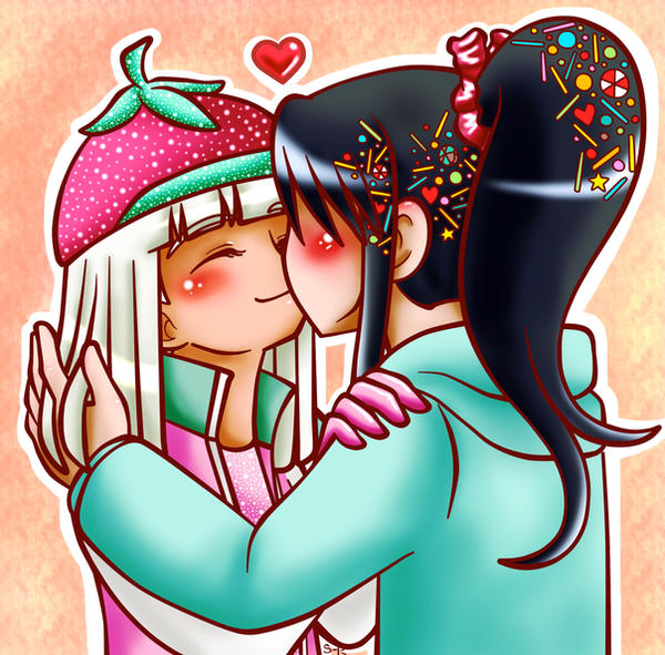 Gallery For  gt  Taffyta Muttonfudge And Vanellope Von Schweetz KissingVanellope Von Schweetz And Taffyta Kiss