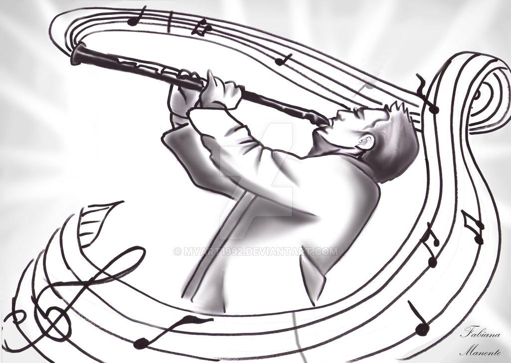 the clarinettist by MyArt1992
