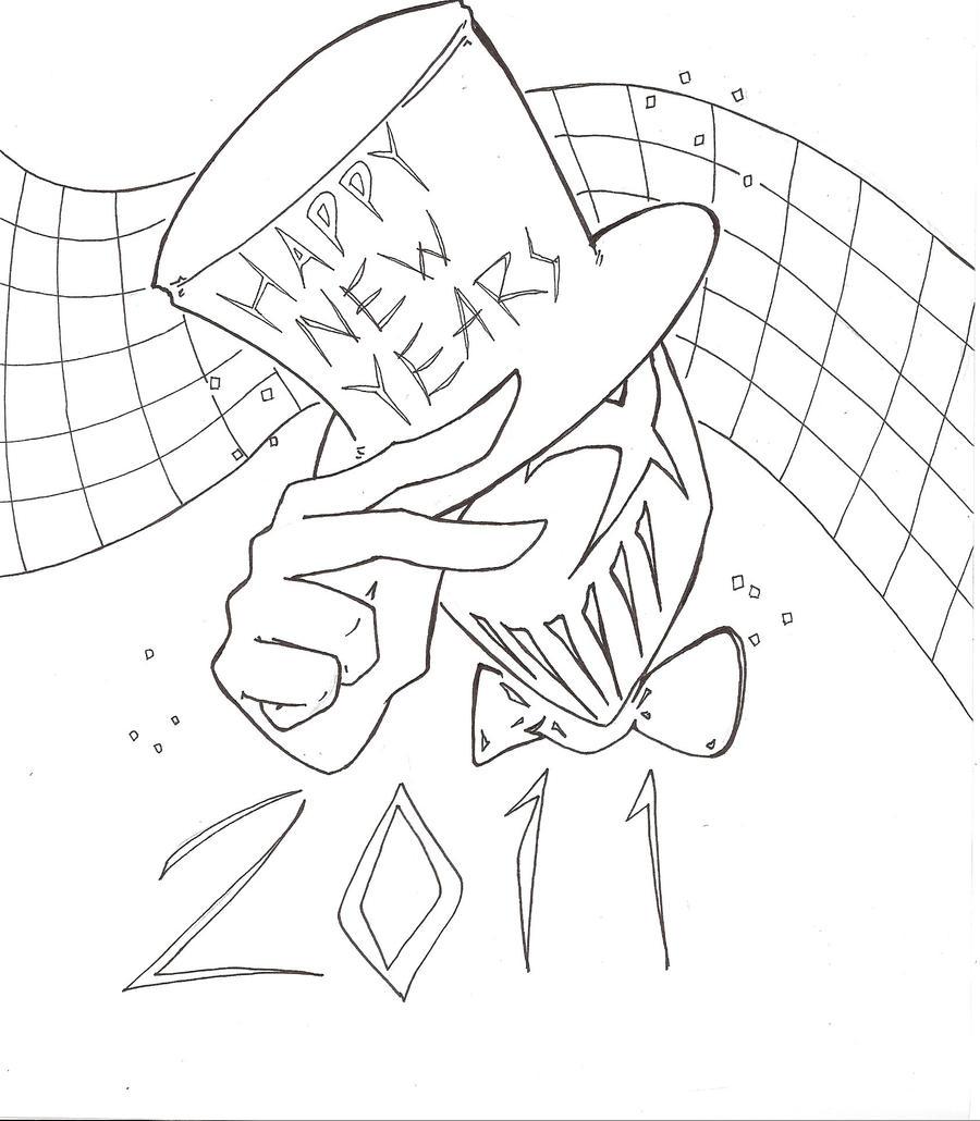 New Year S Line Art : New year line art by penginchan on deviantart