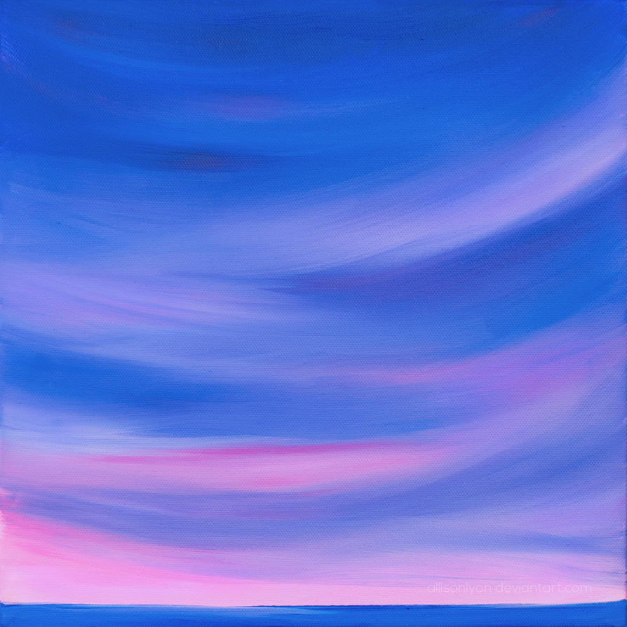 Before We Say Goodbye - Original Seascape Painting by allisonlyon