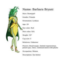 Character Sheet: Barbara