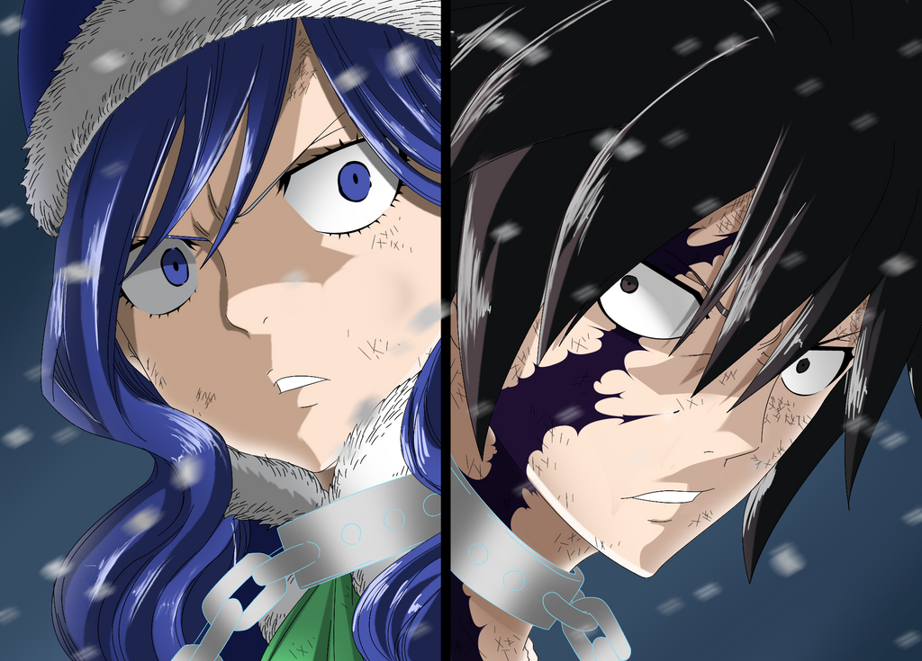 fairy tail 498 gray and juvia by schismart17 on deviantart