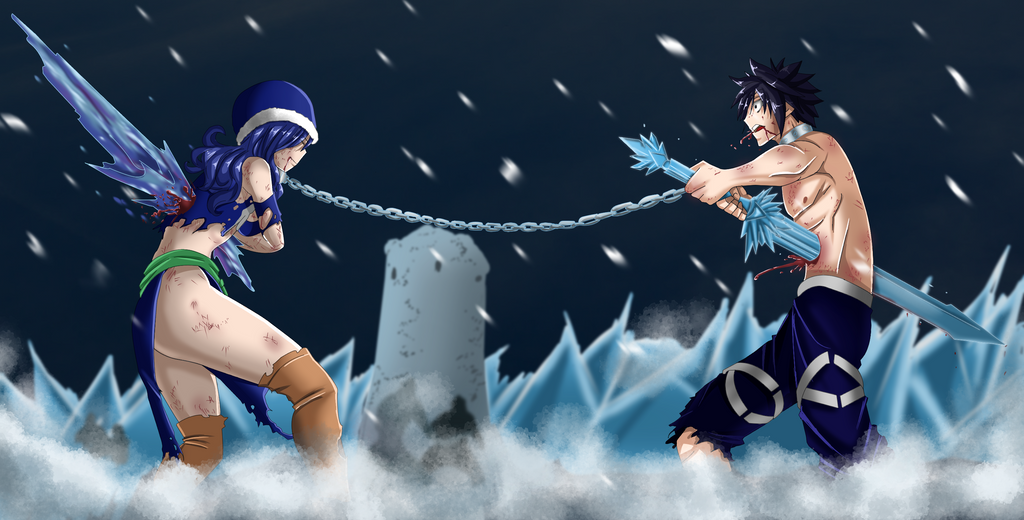 juvia and gray by schismart17 on deviantart