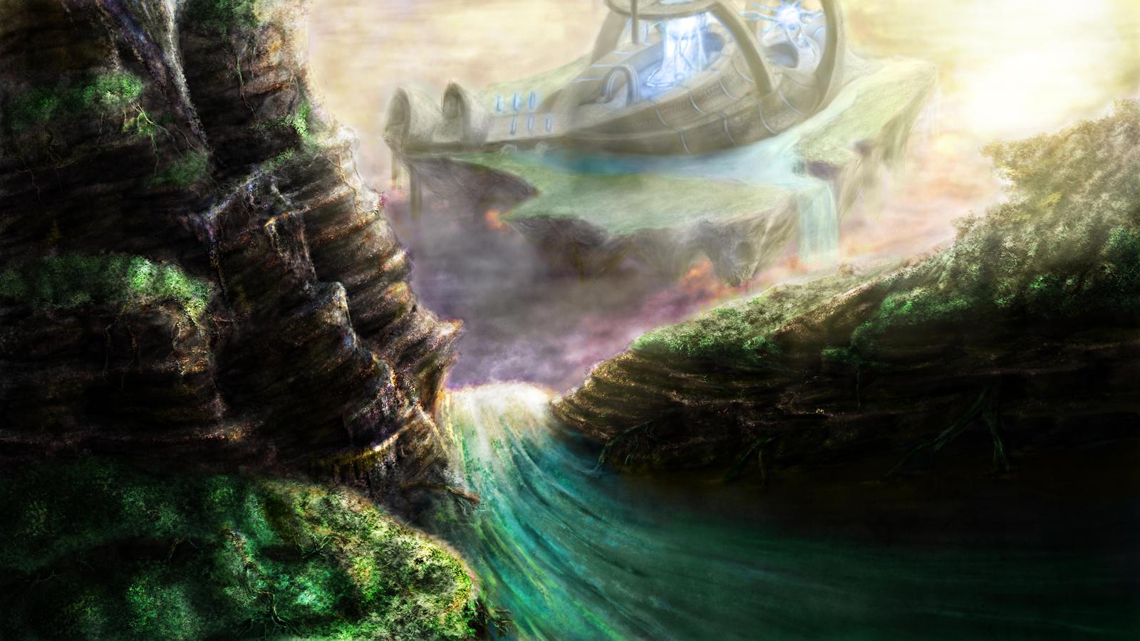 Skyborne Oasis by satan-imp