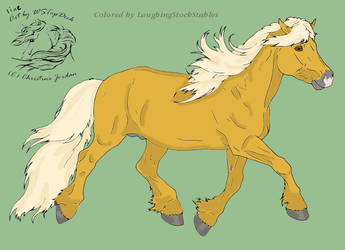 colored Haflinger by LaughingStockStables