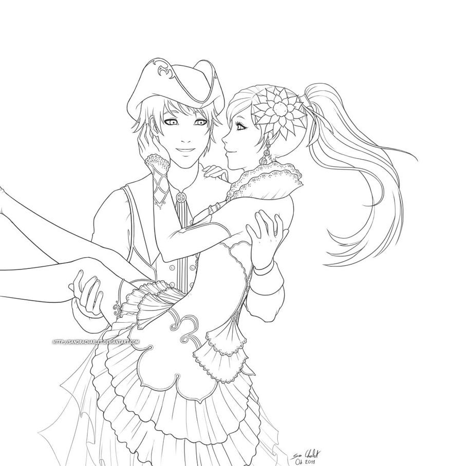Line Art Love : Sweet love line by sandracharlet on deviantart