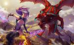 Girl VS Dragon