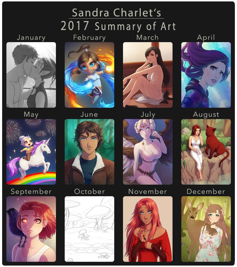 2017 Summary of Art by SandraCharlet