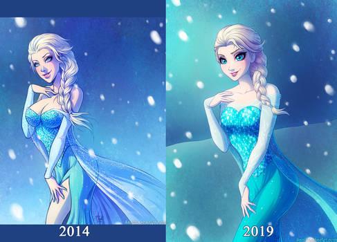 Elsa - 2014 VS 2019