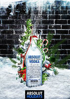 Absolut Vodka - Holidays Ad by janvanlysebettens