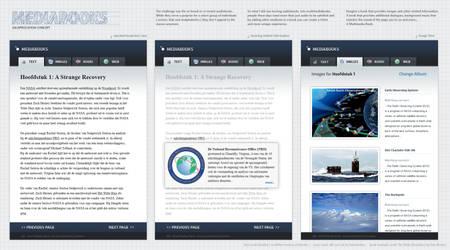 Application Concept: Mediabook by janvanlysebettens