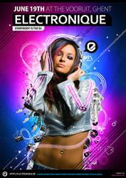 Electronique Poster by janvanlysebettens
