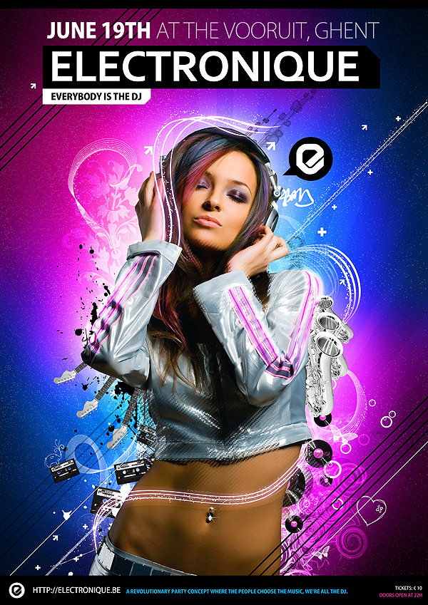 Electronique Poster by janvanlysebettens
