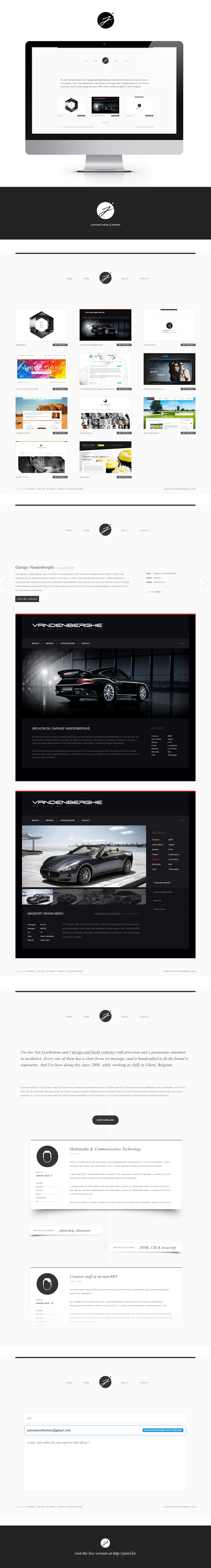 janvl.be: a personal website and portfolio by janvanlysebettens